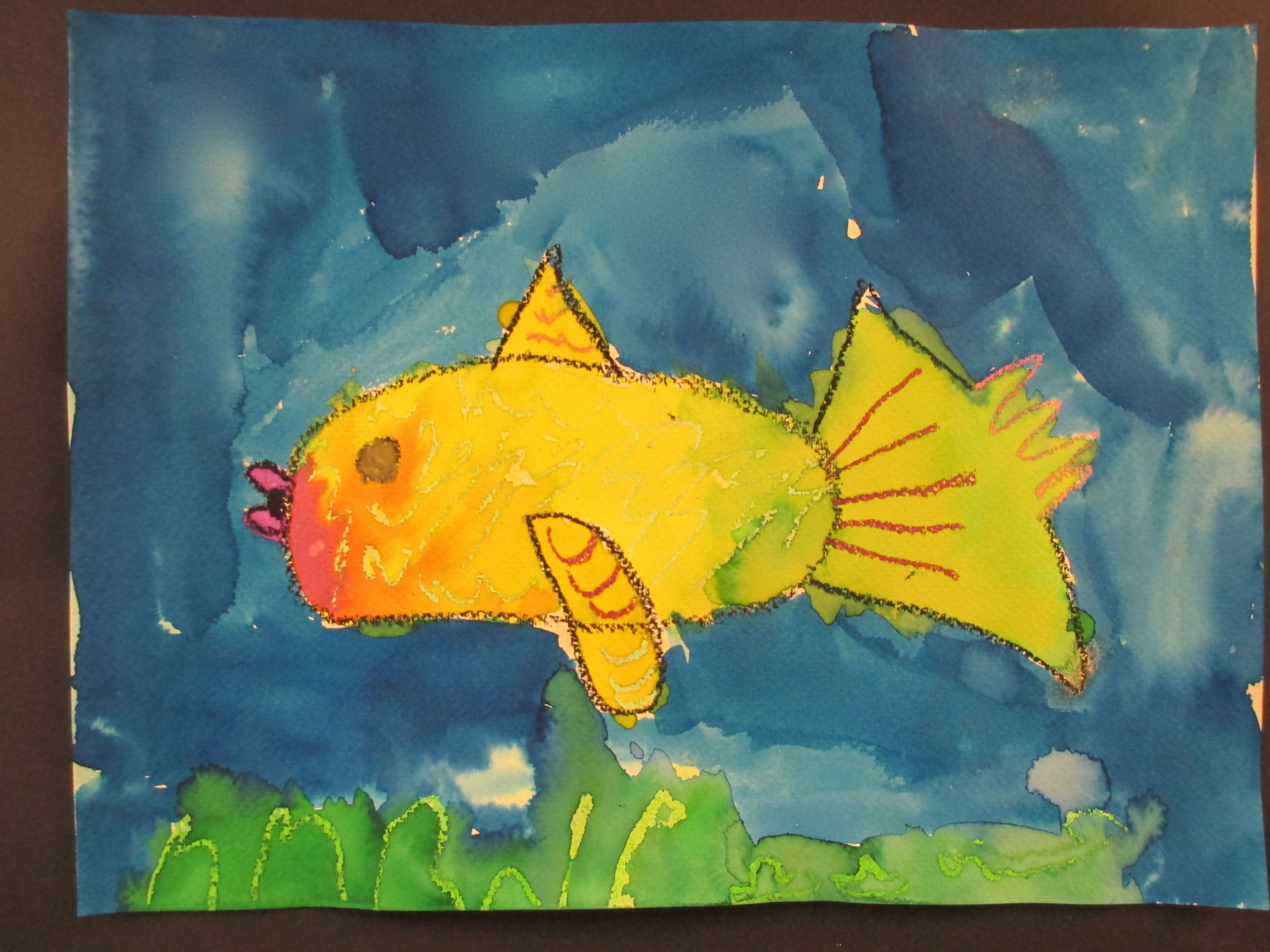 Luxury Colorful Fish Painting Gift - Coloring Page ...